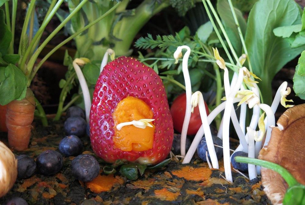 Tarta Vegana Dia del Nino Casita Frutilla