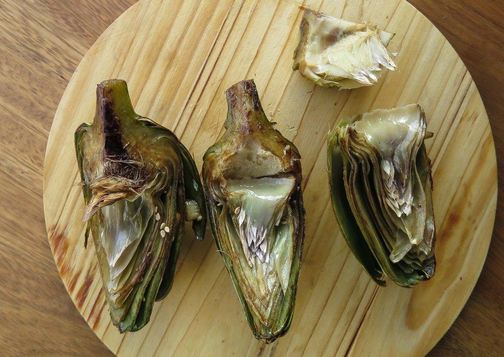 Pasta de Arroz con Alcauciles grillados-4